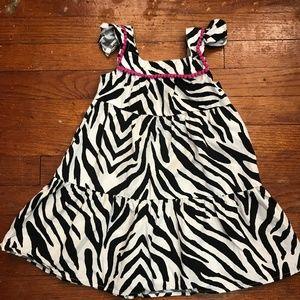 Gymboree Girls Zebra & Pink Casual Summer Dress